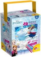 Puzzle in cutie cu 4 carioci - Frozen (60 piese)