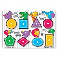 Puzzle lemn Forme geometrice