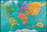 Puzzle magnetic - Harta lumii