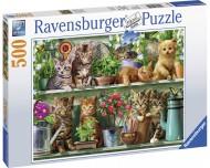 Puzzle Pisici Pe Raft, 500 Piese