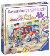 Puzzle Plastic Pompieri, 100 Piese