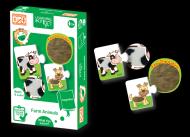 Puzzle senzorial - Animalute de la ferma