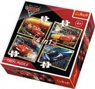 PUZZLE TREFL 4IN1 PREGATITI DE CURSA CARS3