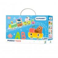 Puzzle - Trenuletul alfabetului (21 piese)