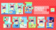 Puzzle trio Djeco activități de peste zi