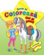 Scrie si coloreaza cai si ponei (verde)