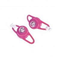 Semnalizatoare luminoase pentru curucioare si biciclete Proviz roz