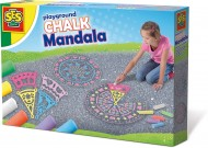 SES Outdoor - Set creta colorata si sabloane Mandala