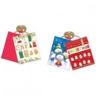 Set 2 pungi pentru cadouri cu tematica de iarna