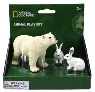 Set 3 figurine - Urs si iepure polar
