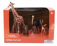 Set 4 figurine - Girafa, Elefantel, Strut si Antilopa