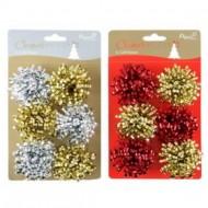Set 4 pompoane  pentru decorarea cadoului