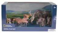 Set 6 figurine - Maimuta, Antilopa, Crocodil, Elefantul si puii