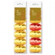 Set 6 gheme de panglica colorata