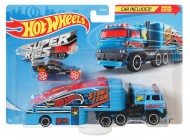 SET CAMION SI MASINA SPORT HOT WHEELS STUNTIN SEMI