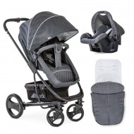 Set Carucior Pacific 4 Shop'n Drive Melange Charcoal
