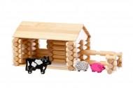 Set constructie din lemn Varis Ferma 77