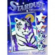 Set creativ tablou cu glitter - Tigrul alb