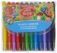Set creioane colorate cerate retractabile - 12 culori