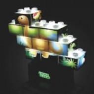 Set de constructii Stax Junior Puzzle Dinosaur, compatibil Duplo®