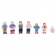 Set de papusi Family of 7 - Caucasian - Kidkraft