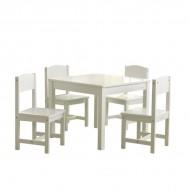 Set masa cu 4 scaune - Farmhouse Table & 4 Chairs Set - White kidkraft