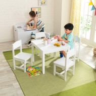 Set masa cu 4 scaune - Farmhouse Table & 4 Chairs Set - White kidkraft