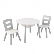 Set masa cu spatiu depozitare si 2 scaune  - Kidkraft