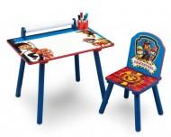 Set masuta pentru creatie si 1 scaunel Paw Patrol