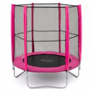 Set trambulina cu plasa de protectie Junior Pink 140 cm PLUM
