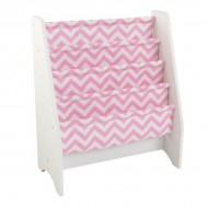 Spatiu depozitare carti Sling Bookshelf, Pink & White-Kidkraft