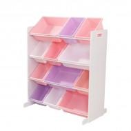 Spatiu depozitare jucarii  Sort It & Store It Bin Unit, Pastel & White - Kidkraft