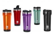 Termos cafea 420 ml (exterior plastic) - Culoare - Rosu