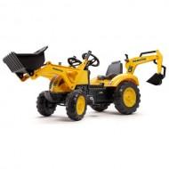 Tractor cu Pedale Komatsu cu Cupa, Excavator si Casca Protectie