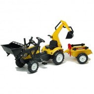 Tractoras Constructor cu Excavator, Cupa, Remorca, Forme Nisip si Accesorii