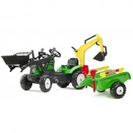 Tractoras Ranch cu Excavator, Cupa, Remorca, Forme Nisip si Accesorii