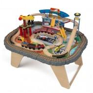 Trenulet din lemn Transportation Station si masa de joaca - Kidkraft