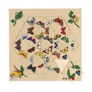 Triama - Puzzle 24 piese cu fluturi - Educo