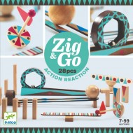 Zig&Go Djeco, set de construcție trasee, 28 piese